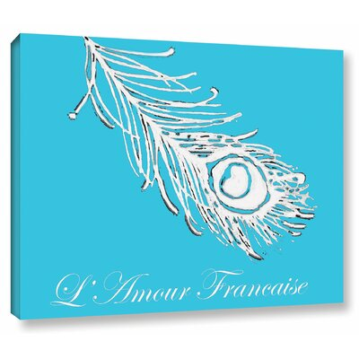 Lamour Francaise Painting Print on Wrapped Canvas Size: 14