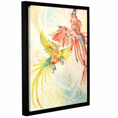 Parrots Framed Painting Print Size: 18