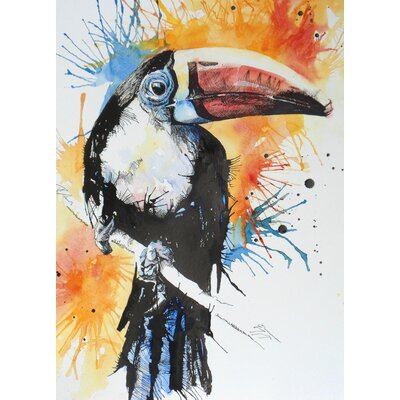 Toucan 1 Painting Print on Wrapped Canvas Size: 18