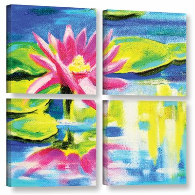 Lily 4 Piece Painting Print on Wrapped Canvas Set Size: 36