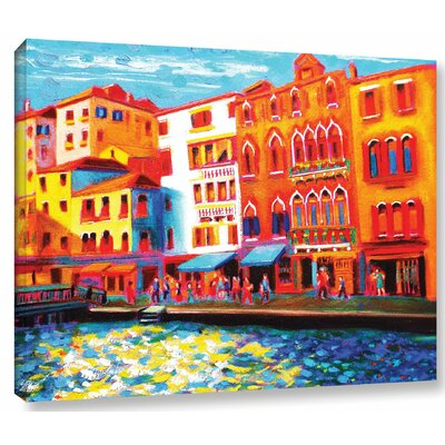 Venice Grand Canal Painting Print on Wrapped Canvas Size: 14