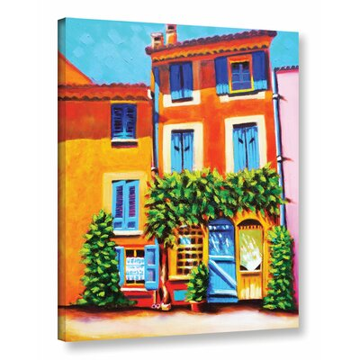 French Real Estate Painting Print on Wrapped Canvas Size: 18