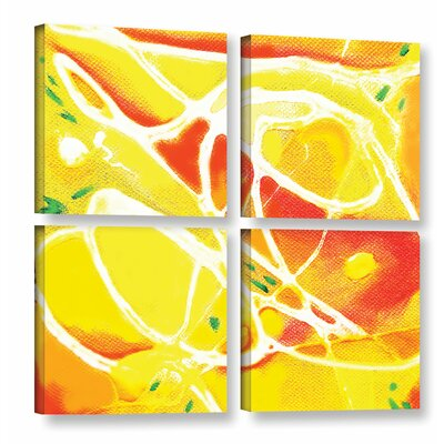 Fusion 4 Piece Painting Print on Wrapped Canvas Set Size: 36