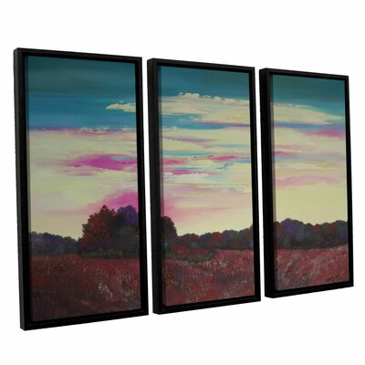 Winding Up 3 Piece Framed Painting Print Set