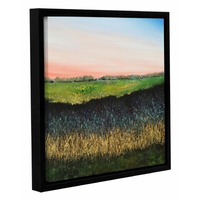 Green Field Framed Painting Print