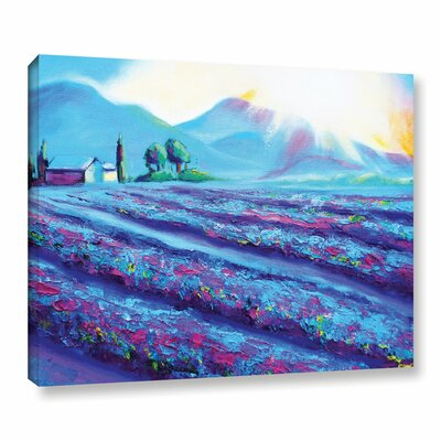 Provence Dawning Painting Print on Wrapped Canvas Size: 14