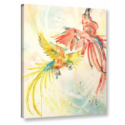 Parrots Painting Print on Wrapped Canvas