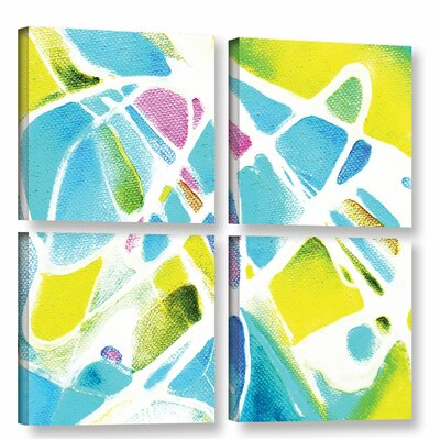 Synchronous 4 Piece Painting Print on Wrapped Canvas Set Size: 36
