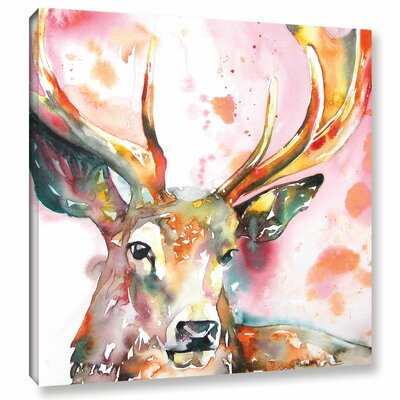 Stag II Painting Print on Wrapped Canvas
