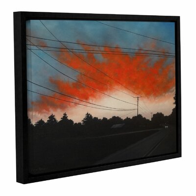 Ablaze Framed Painting Print Size: 14