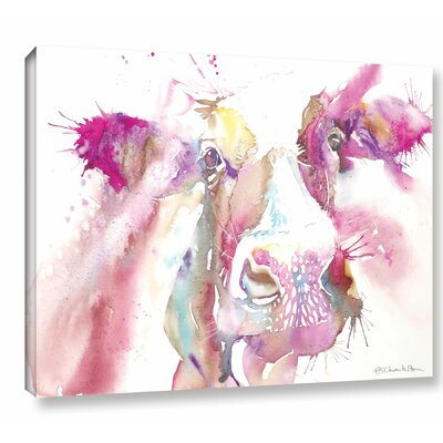 Cow Canvas 2 Painting Print on Wrapped Canvas Size: 14