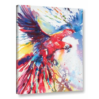 Parrot 2 Painting Print on Wrapped Canvas Size: 18