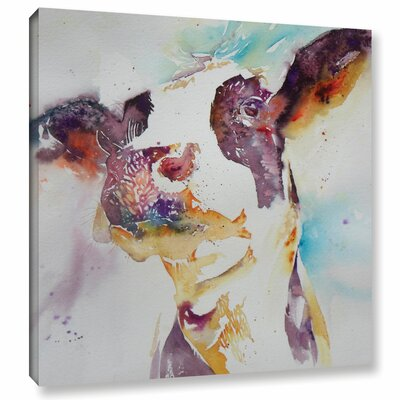 Cow 22 Painting Print on Wrapped Canvas Size: 10