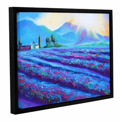 Provence Dawning Framed Painting Print Size: 14
