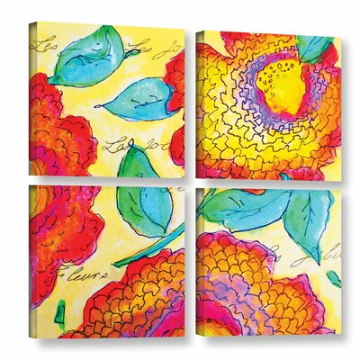Les Jolies II 4 Piece Painting Print on Wrapped Canvas Set Size: 36