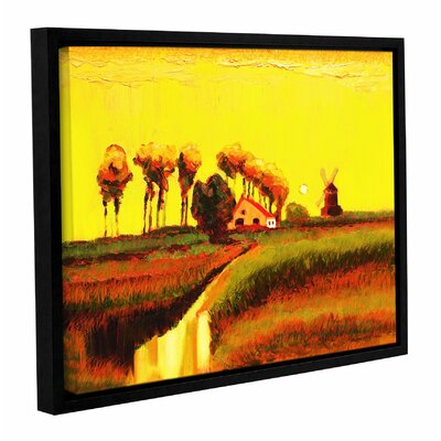 Holland Twilight Framed Painting Print