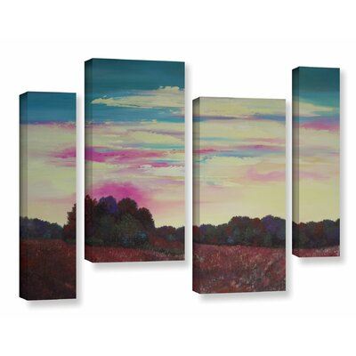 Winding Up 4 Piece Painting Print on Wrapped Canvas Set