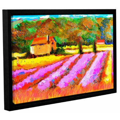 Lavendar Fields Framed Painting Print Size: 12