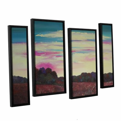 Winding Up 4 Piece Framed Painting Print Set