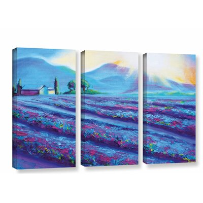 Provence Dawning 3 Piece Painting Print on Wrapped Canvas Set Size: 24