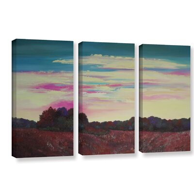 Winding Up 3 Piece Painting Print on Wrapped Canvas Set