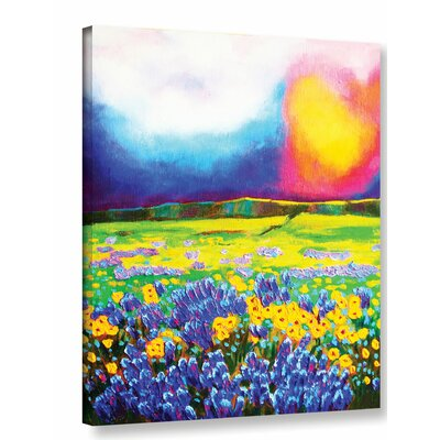 Down on The Scottish Heather Painting Print on Wrapped Canvas Size: 18