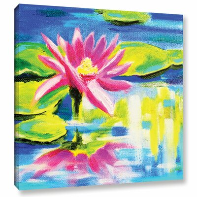 Lily Painting Print on Wrapped Canvas Size: 10