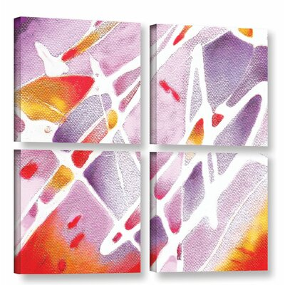 Purple Haze 4 Piece Painting Print on Wrapped Canvas Set Size: 36
