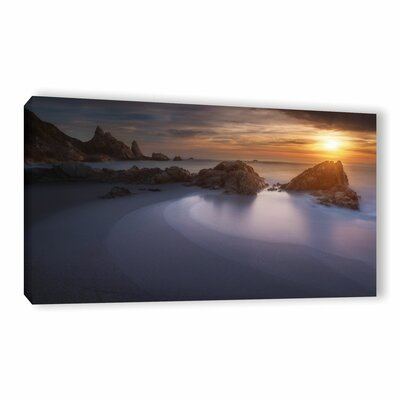 Four Shades of Sea Photographic Print on Wrapped Canvas Size: 12