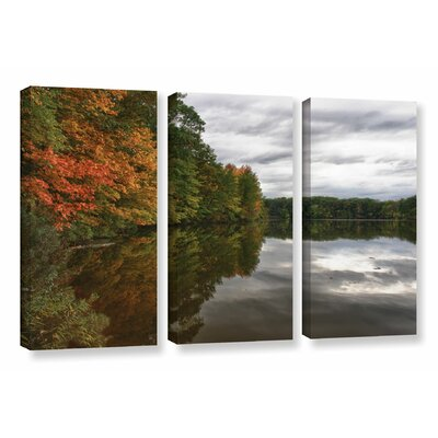 Fall in Ohio 3 Piece Photographic Print on Wrapped Canvas Set Size: 24