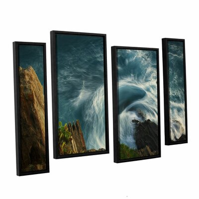 Bending Waves 4 Piece Framed Graphic Art Size: 24