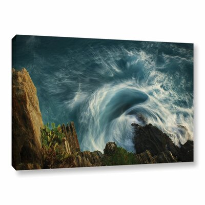 Bending Waves Graphic Art on Wrapped Canvas Size: 12