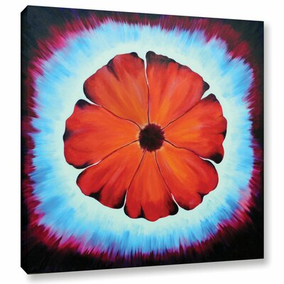 Flower Burst 1 Painting Print on Wrapped Canvas