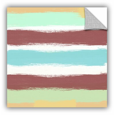 Marsala Paint Stripes Painting Print