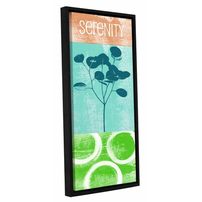 "Serenity Framed Graphic Art Size: 48"" H x 24"" W x 2"" D LTRN7029 30807306"