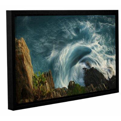 Bending Waves Framed Graphic Art Size: 12