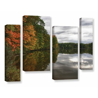 Fall in Ohio 4 Piece Photographic Print on Wrapped Canvas Set Size: 24