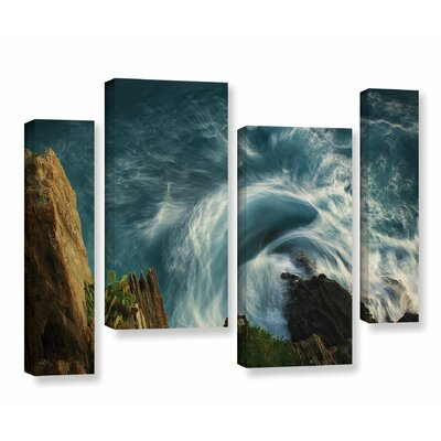 Bending Waves 4 Piece Graphic Art on Wrapped Canvas Set Size: 24