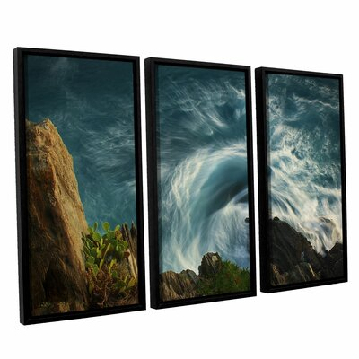 Bending Waves 3 Piece Framed Graphic Art Size: 24