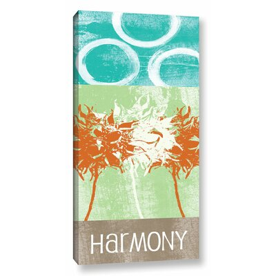 """Harmony Graphic Art on Wrapped Canvas Size: 48"""" H x 24"""" W x 2"""" D LTRN7165 30807748"""