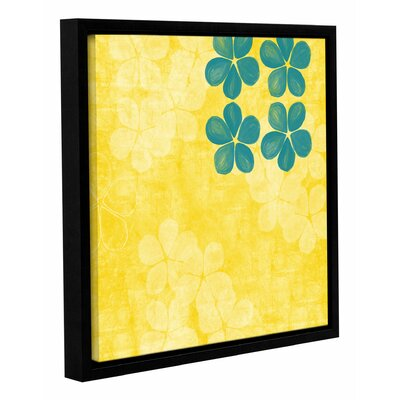 Yellow Florals Framed Graphic Art Size: 10