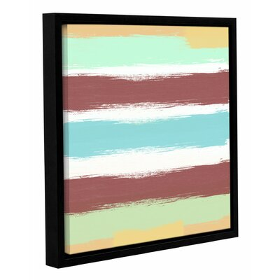 Marsala Paint Stripes Framed Painting Print