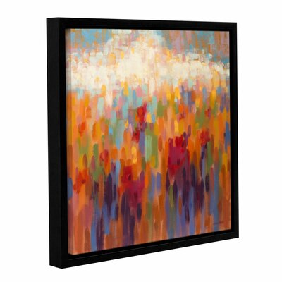 Poppy Mosaic Framed Painting Print Size: 10