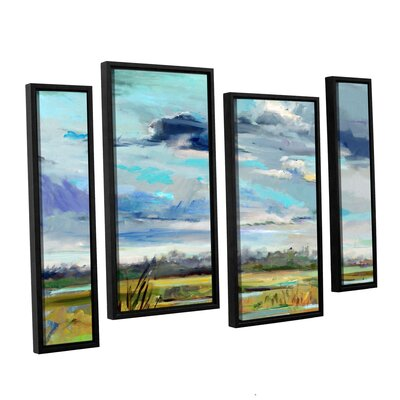 Marsh Skies 4 Piece Framed Original Painting Set