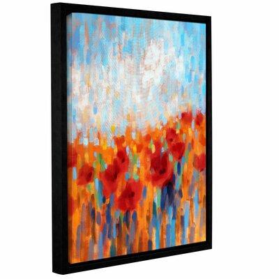 Poppy Walk Framed Painting Print