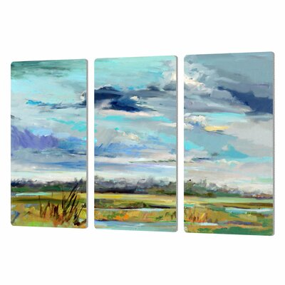 Marsh Skies 3 Piece Original Painting Set
