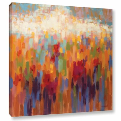 Poppy Mosaic Painting Print on Wrapped Canvas Size: 10