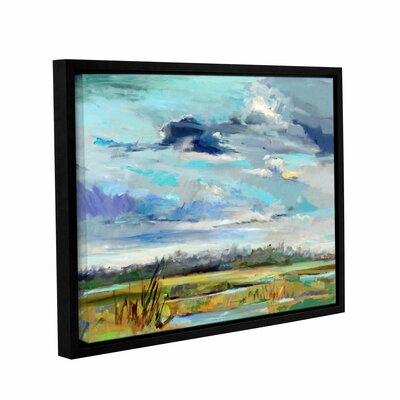 Marsh Skies Framed Original Painting