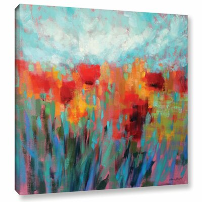 Shimmering Painting Print on Wrapped Canvas