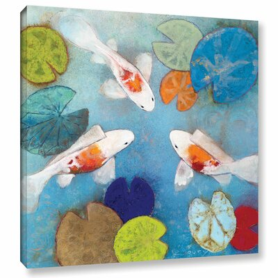 Koi 2 Painting Print on Wrapped Canvas Size: 10